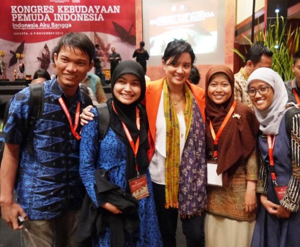 Foto bareng Ketupat KKPI; Mbak Marshella Zalianthy ;-)