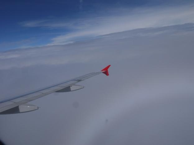 Terbang di atas awan. Subhanallah insahnya ciptaanNya
